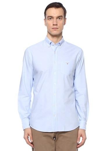 Gant Gant  Polo Yaka Oxford Gömlek 101581750 Mavi